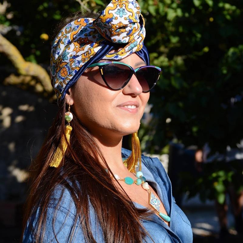 Occhiali da sole - un turbante di Velenia