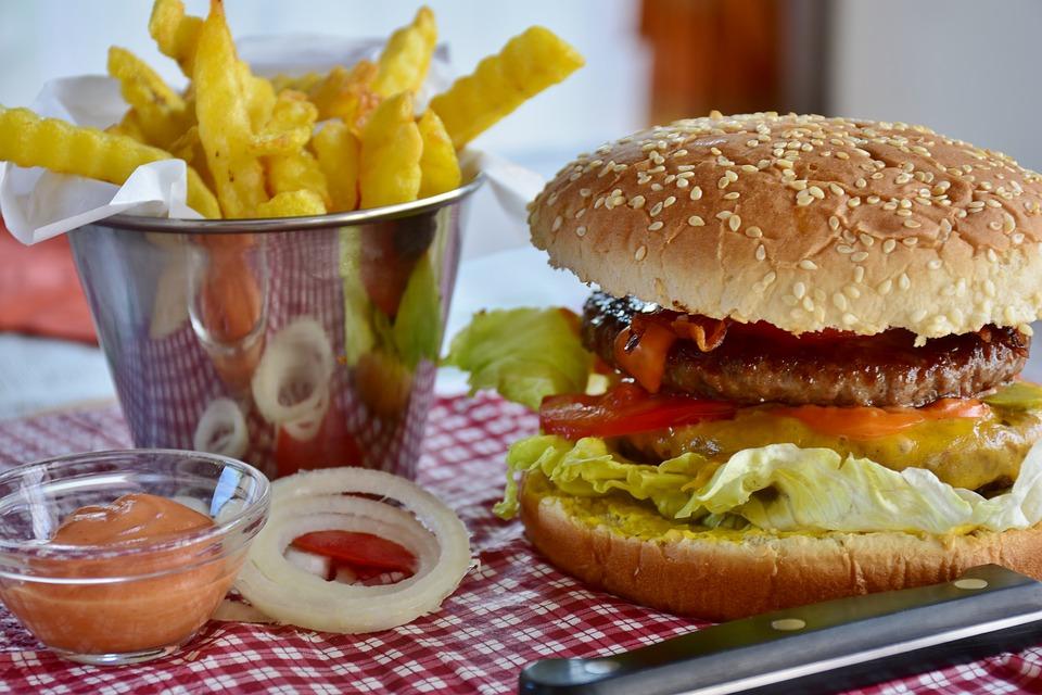 Londra a piedi - Panino e patatine fritte