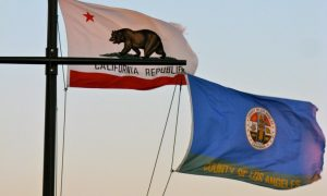 Bandiera della California e stemma di Los Angeles