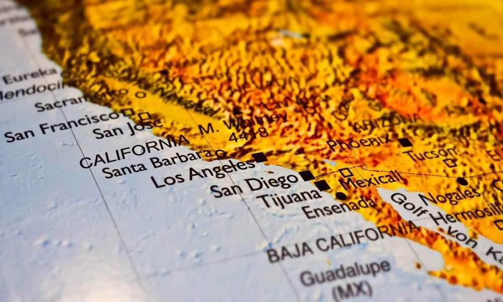 Nel nome di Los Angeles - Immagine della cartina geografica della California