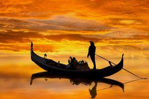 Venezia - Gondola con gondoliere