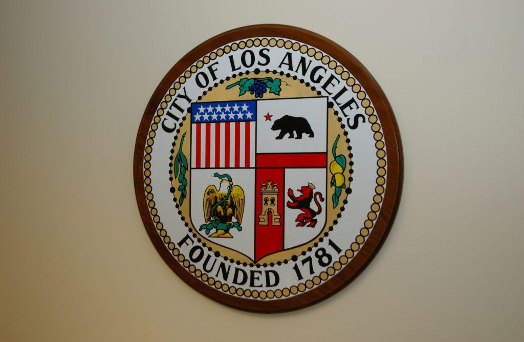 Stemma di Los Angeles contenente simboli della storia cittadina