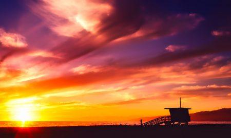 Molo S. Monica al tramonto