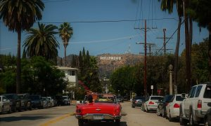 Hollywood- uno dei viali di Los Angeles