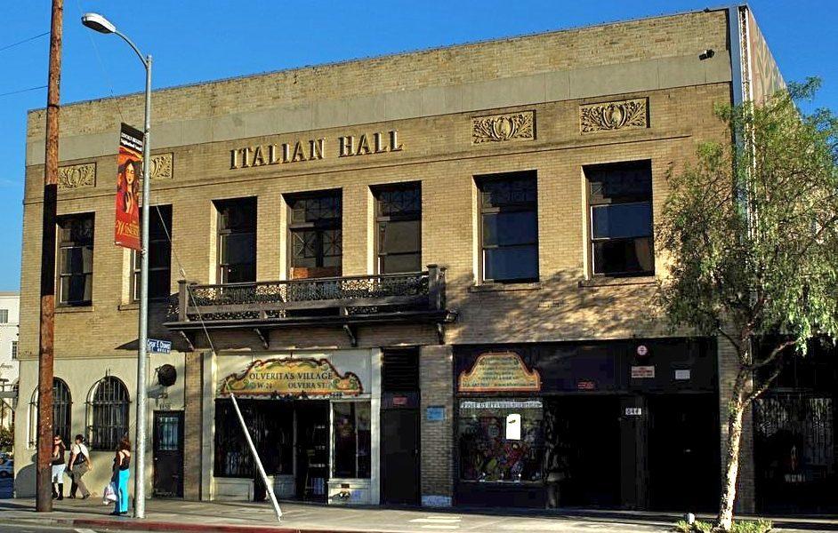 IAMLA. L'edificio visto in facciata del Museo italo americano di Los Angeles