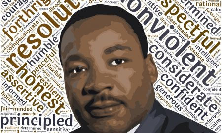 Martin Luther King. Poster ritraente il voto di Martin Luther King