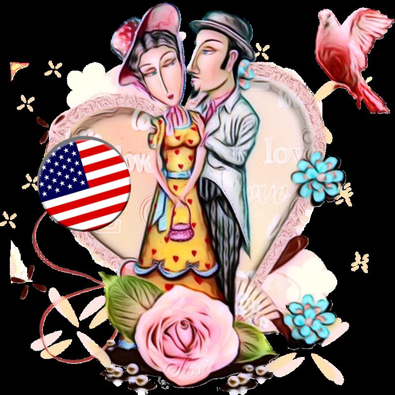 San Valentino - Coppia di cartoon innamorata