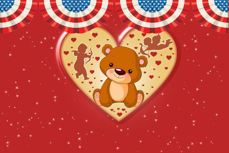 San Valentino - Cuore con orsetto