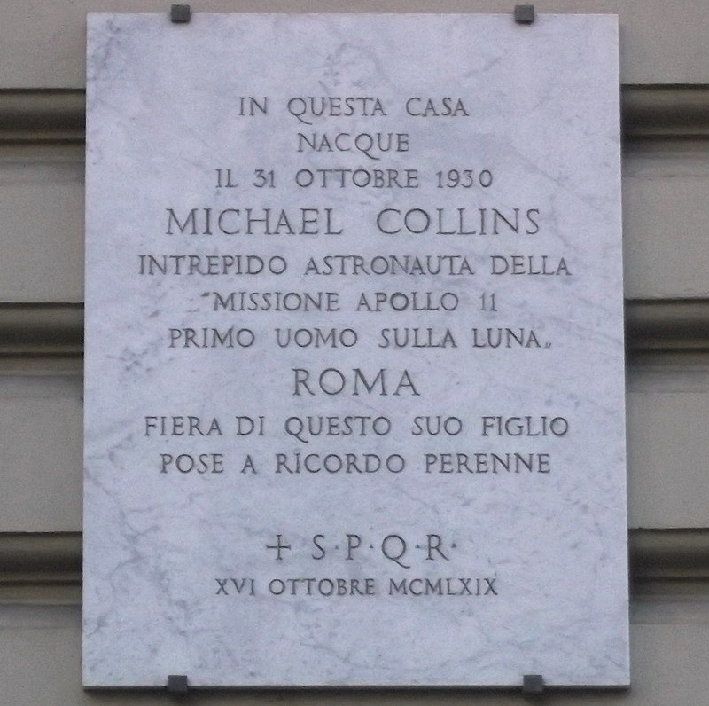 Michael Collins - Targa Commemorativa
