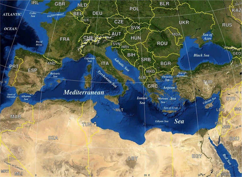 Collegamenti per l'Italia. Cartina Geografica Europa