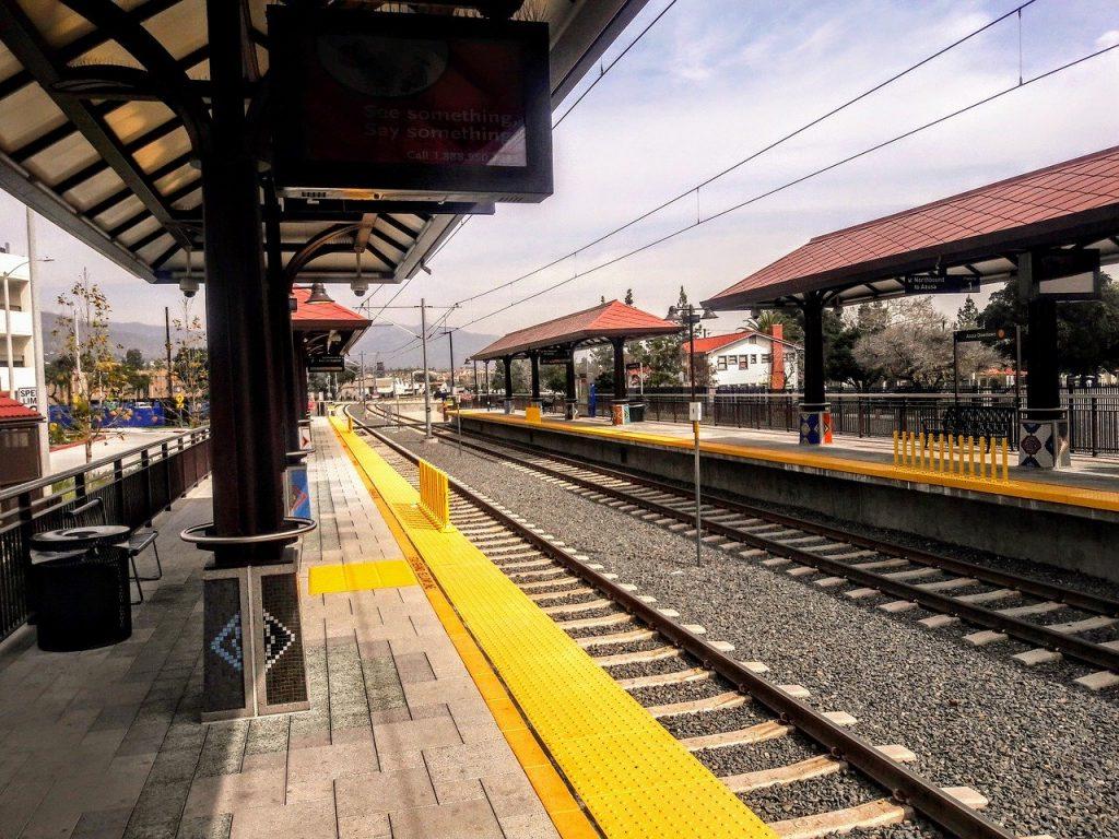 Trasporti LA. Azusa Gold Line Station