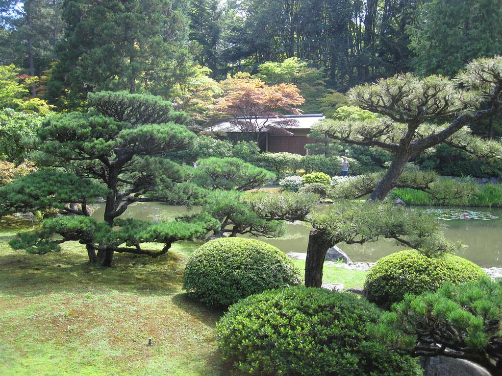 Japanese Garden, immagine di una sezione del giardino giapponese della valle di San Fernando