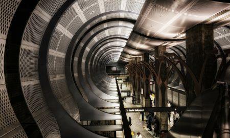 Trasporti metro a LA. Stazione Metro North Hollywood