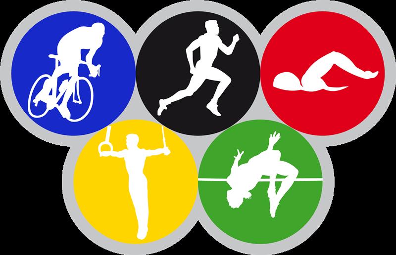 Le Olimpiadi del 1984 - Olimpiadi nella raffigurazione stilizzata