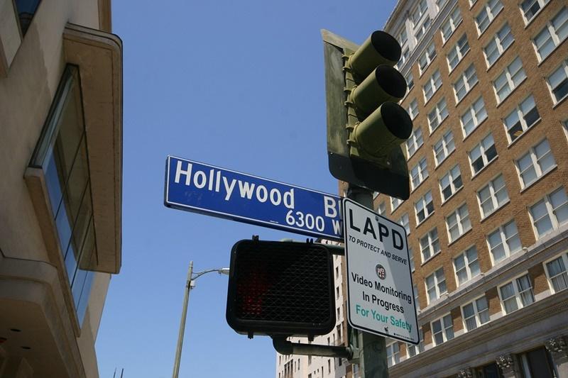 Hollywood - Tabella stradale
