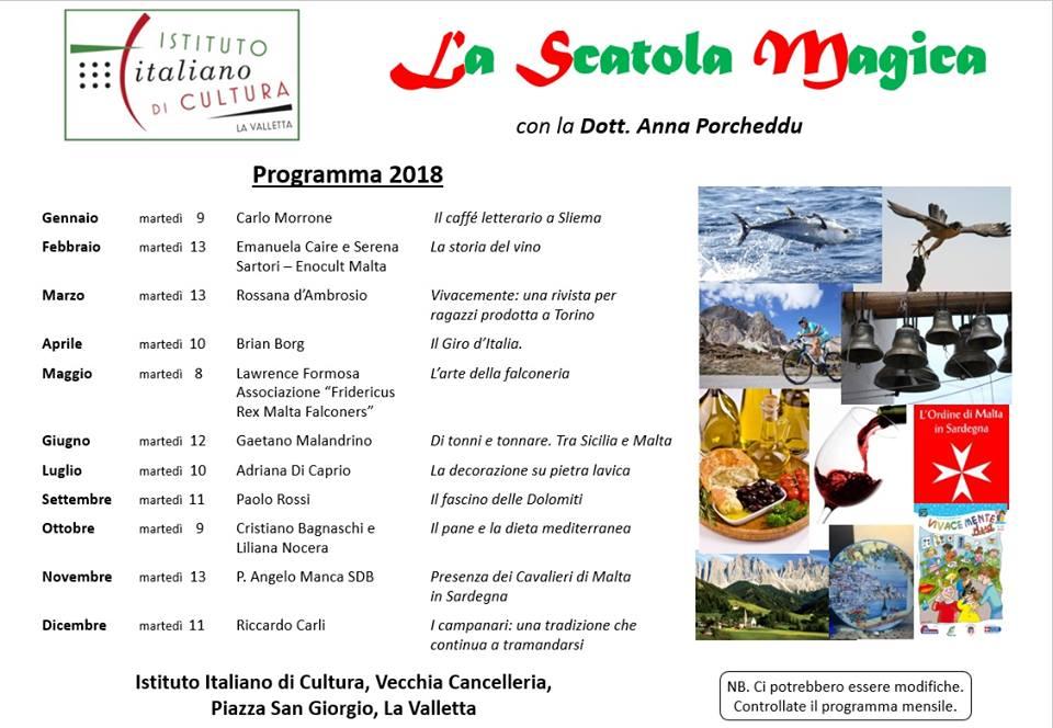 programma annuale Istituto italiano di cultura