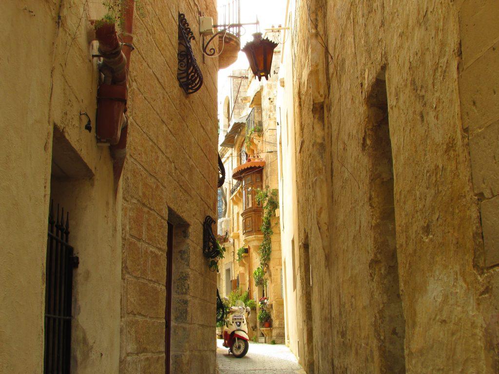 Scorcio delle vie di Rabat