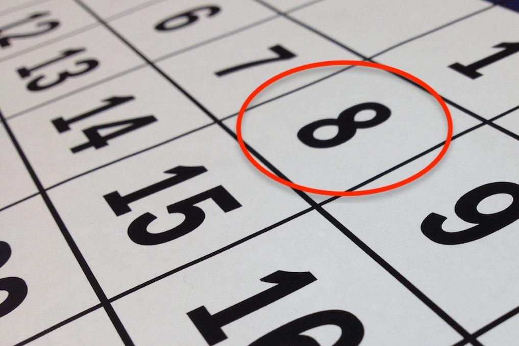 Festa della donna - calendario 8 marzo