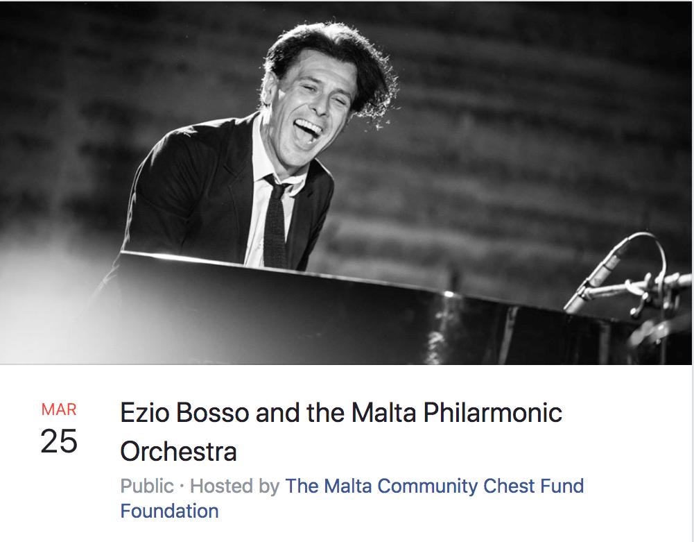 Ezio Bosso a Malta - evento Facebook