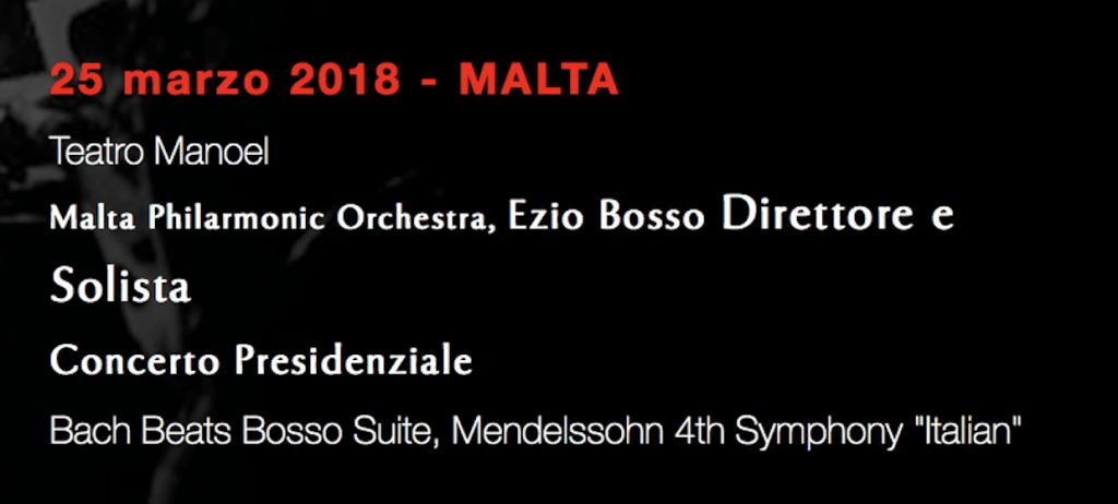 Ezio Bosso a Malta - locandina