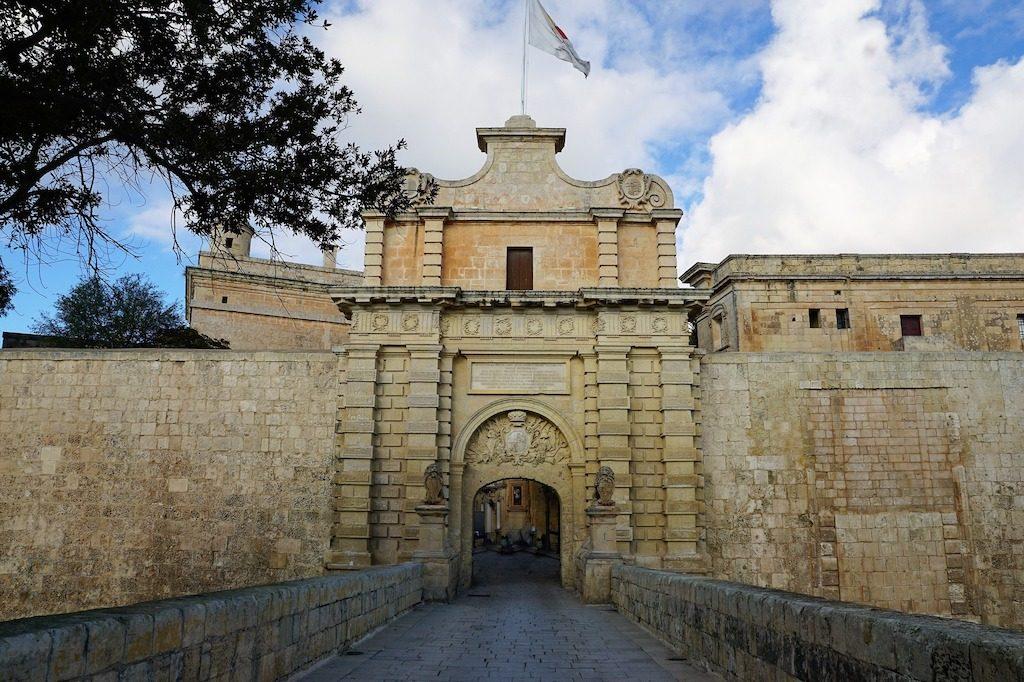 Medieval Mdina 2018, ponte di ingresso di Mdina
