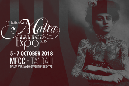 Malta Tattoo Expo 2018, Facebook cover dell'account ufficiale @maltatattooexpo