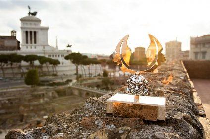 La statuetta del premio margutta a Roma