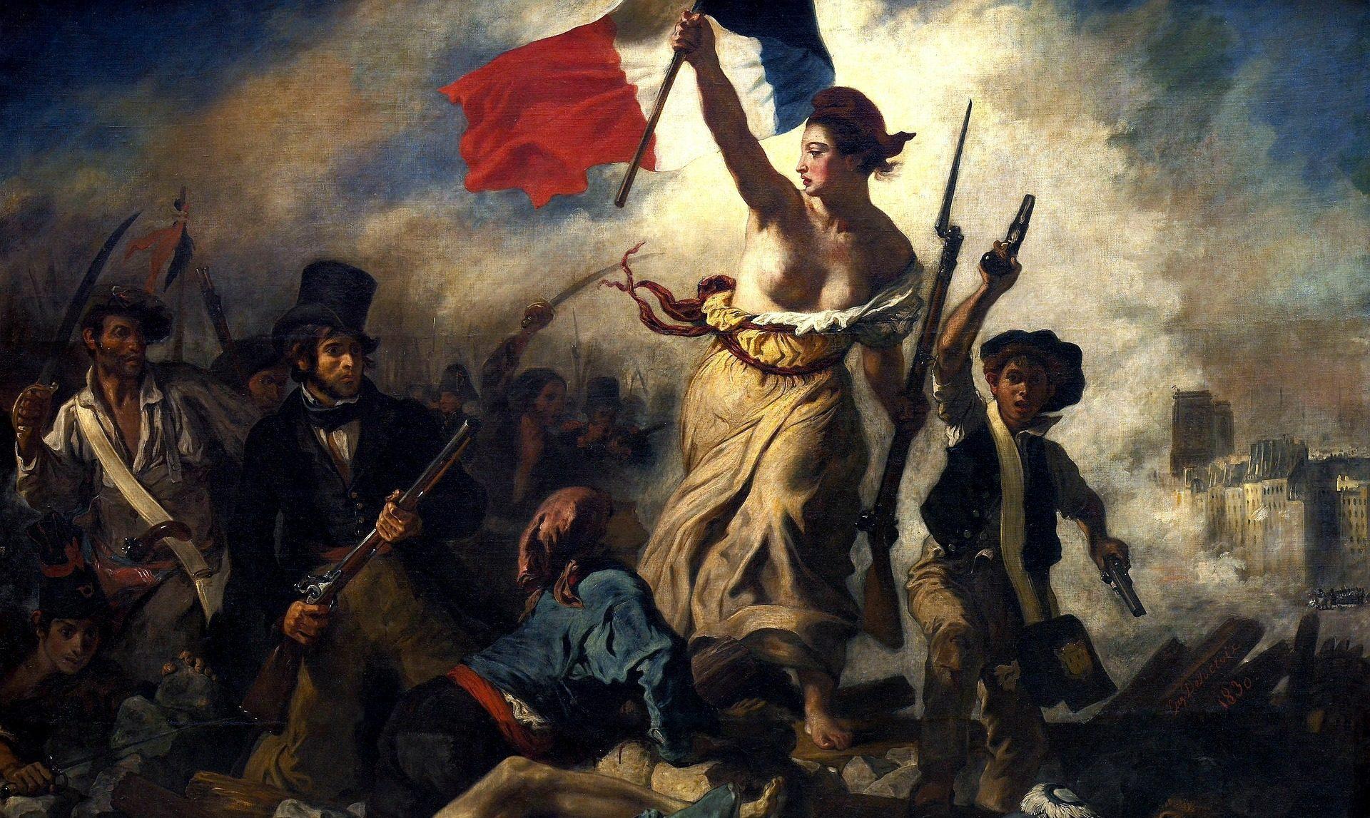 Tricolore dipinto Delacroix
