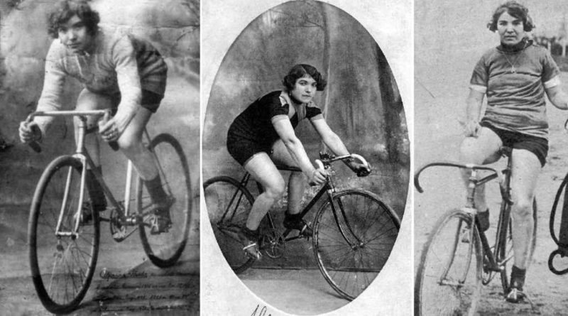 Alfonsina Strada- foto della campionessa di biciclette