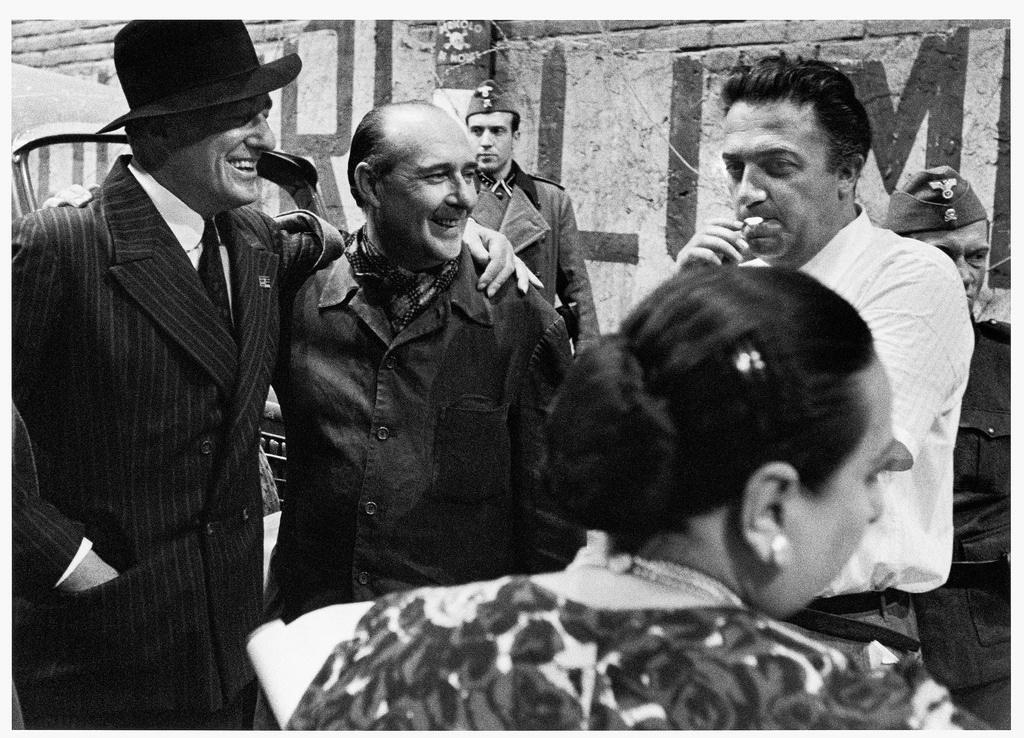 Rossellini De Sica Fellini- foto dei tre cineasti