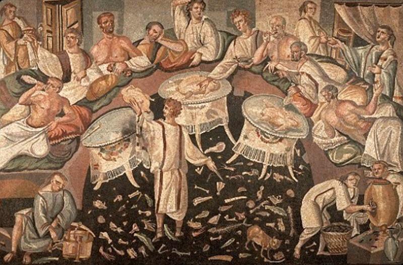 origine e storia del carnevale- affresco antico