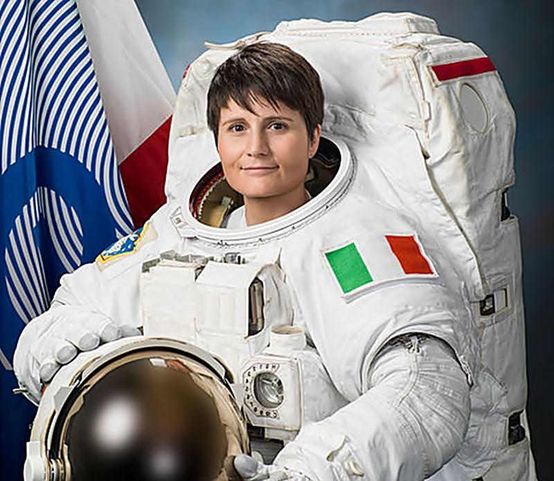 otto marzo- immagine della Cristoforetti astronauta