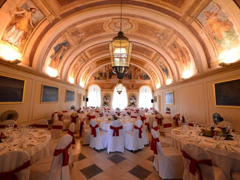 Palazzo Verdala. La sala da pranzo