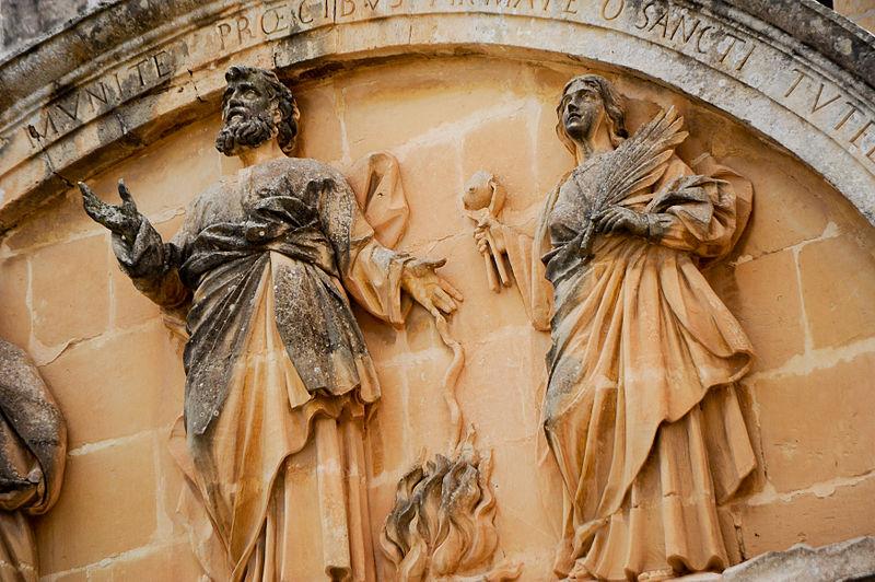 San Patrizio a Malta - Bassorilievo di San Patrizio