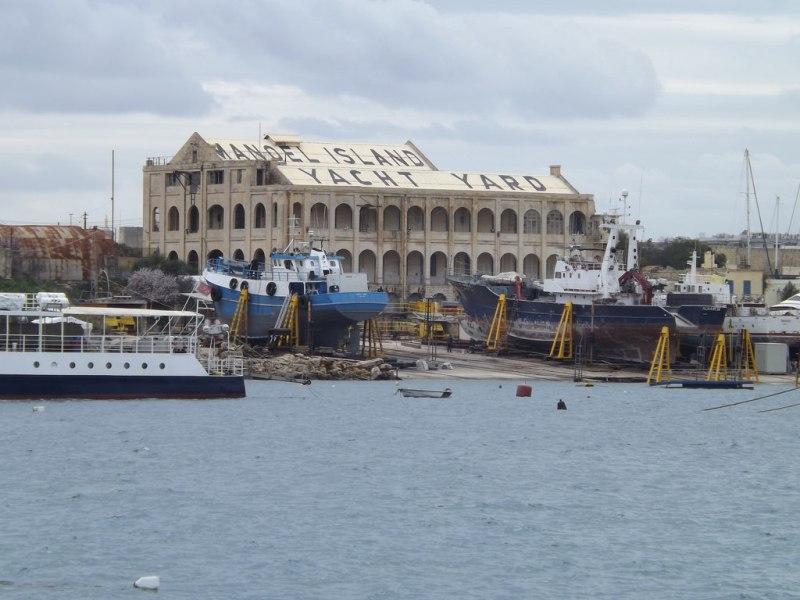 Fort island. Yacht yard