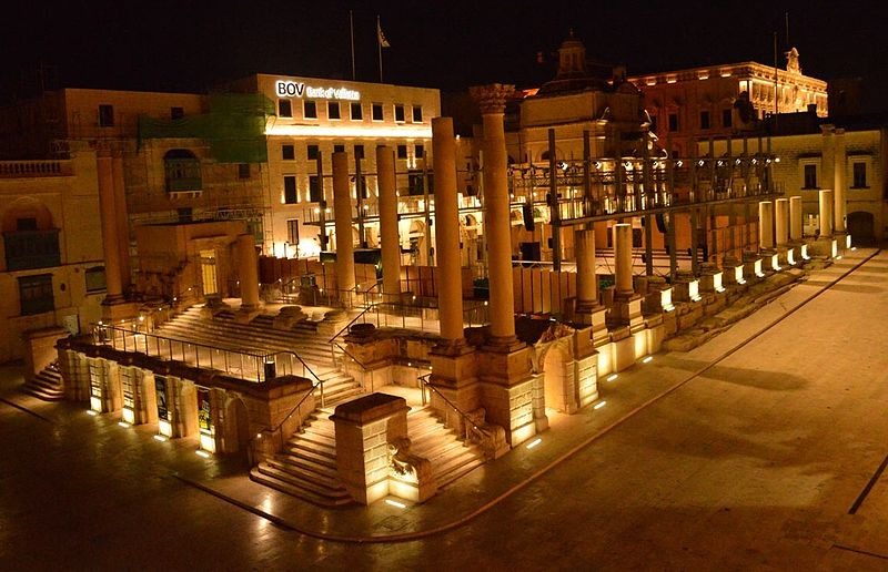 Pjazza Teatru Rjal, una delle location del Valletta Film Festival