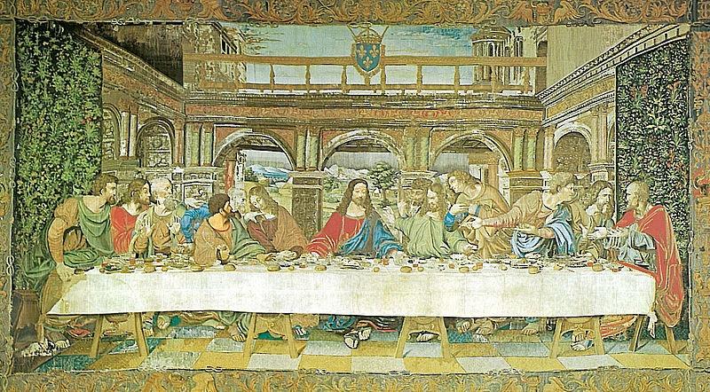 gli arazzi di Malta - ultima cena