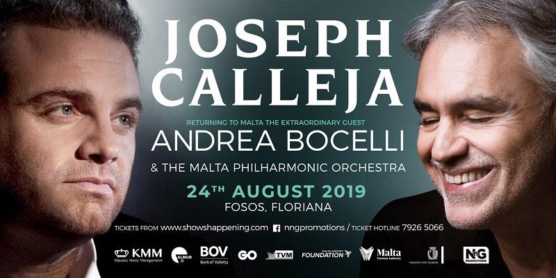 Locandina del concerto di Joseph Calleja e Andrea Bocelli