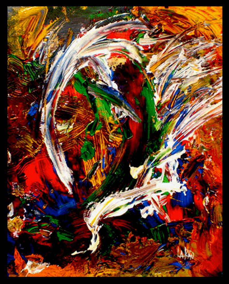 Esposizione Internazionale di Arte - quadro astratto