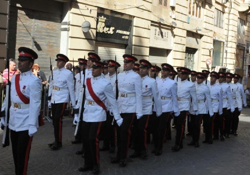 Parata militare nel giorno dei festeggiamenti