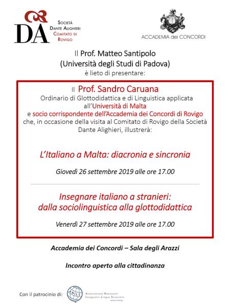 Sandro Caruana: locandina evento