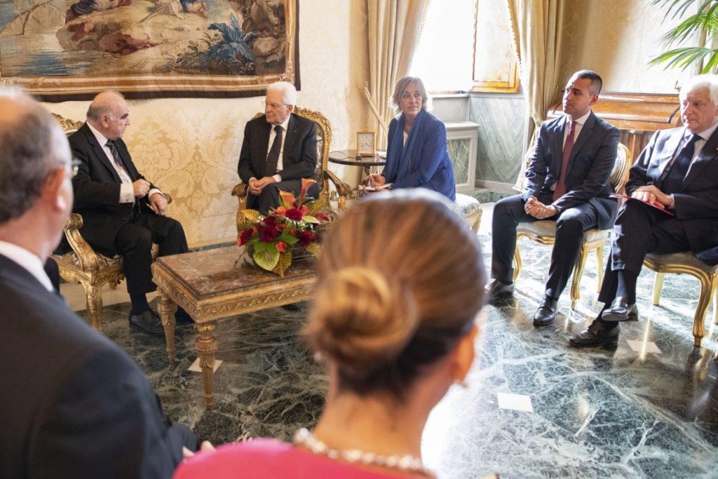 presidente George Vella - incontro a roma tra malta e italia
