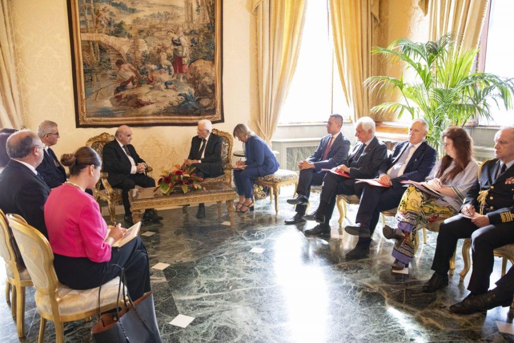 presidente George Vella - incontro fra le due delegazioni al quirinale