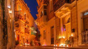 Birgu Fest: stradina di notte