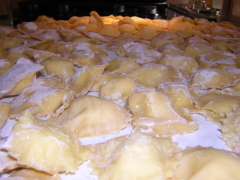 Pasta ripiena, fase di preparazione