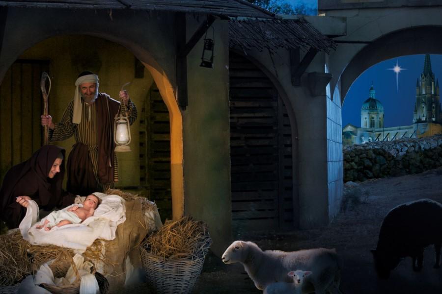 Festività natalizie: uno scatto del presepe vivente