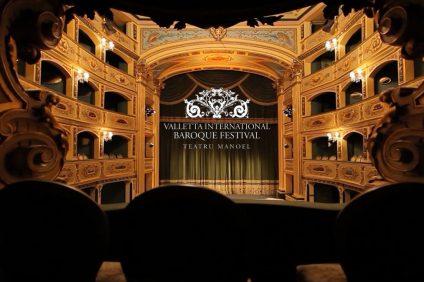 Il teatro manoel durante il valletta baroque festival