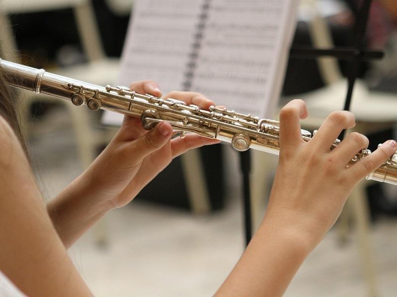don bosco - immagine di mani che suonano un flauto traverso