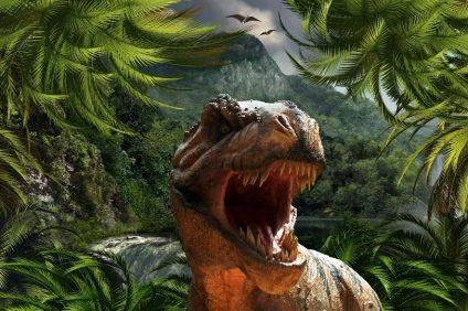 jurassic world - un dinosauro che spalanca le fauci fameliche