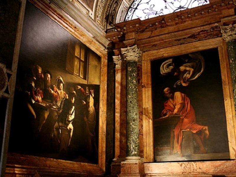 La tela di Caravaggio nella Chiesa romana